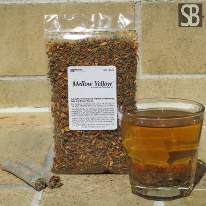 Mellow Yellow™ herbal tea and smoking blend.