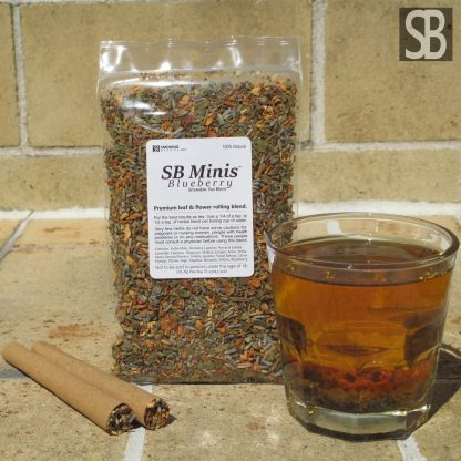 SB Minis Blueberry Herbal Tea and Rolling Blend